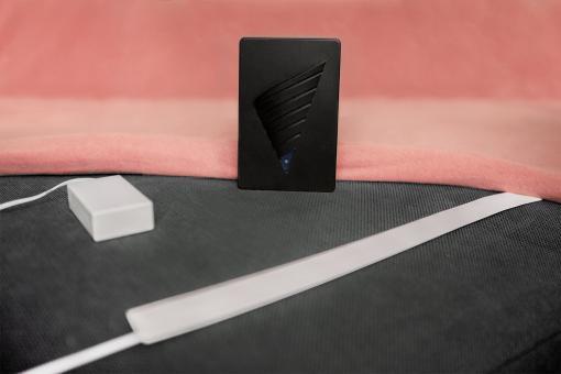 Bettkantensensor mit Vibrationsalarm-Empfänger